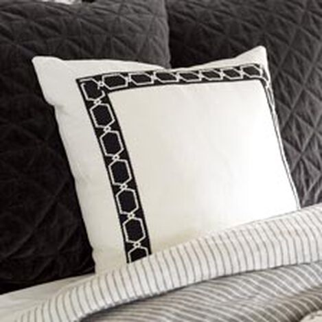 Framed Ivory Pillow, Black/Ivory ,  , hover_image