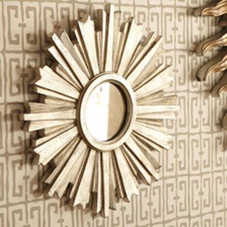 Mini-Miroir en forme d'étoile rayonnante argentée ,  , hover_image