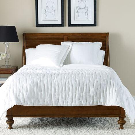 Linen Pick Stitch Quilt, White ,  , large
