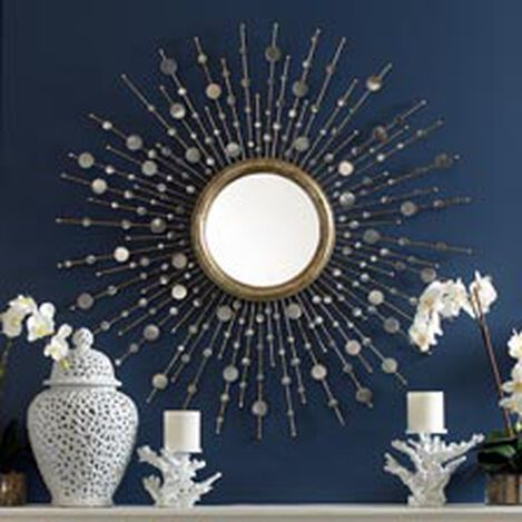 Silver Toned Soleil Mirror ,  , hover_image