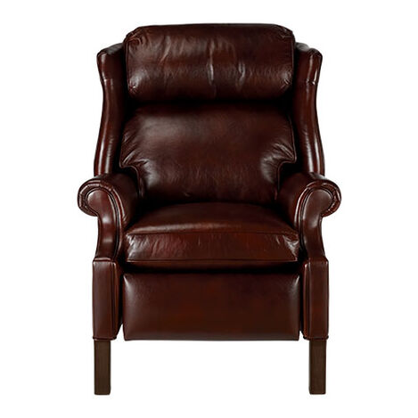 Townsend Leather Recliner, Old English/Chocolate ,  , large