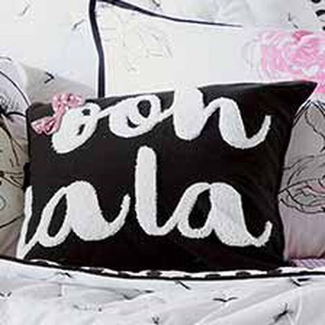 Bow La La Embroidered Pillow, Minnie Pink ,  , hover_image