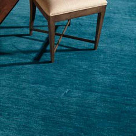 Loomed Wool Rug, Turquoise ,  , hover_image