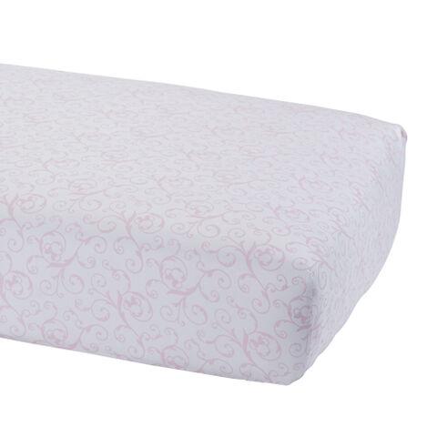 Minnie Mouse Scroll Crib Sheet, Petal ,  , large