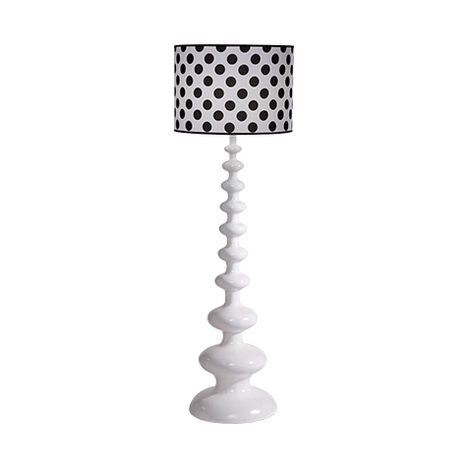Modern Spindle Floor Lamp, Snow ,  , large