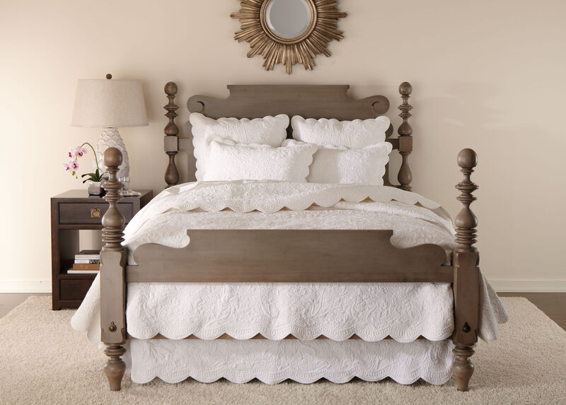 Dominique White Quilt and Shams ,  , large_gray