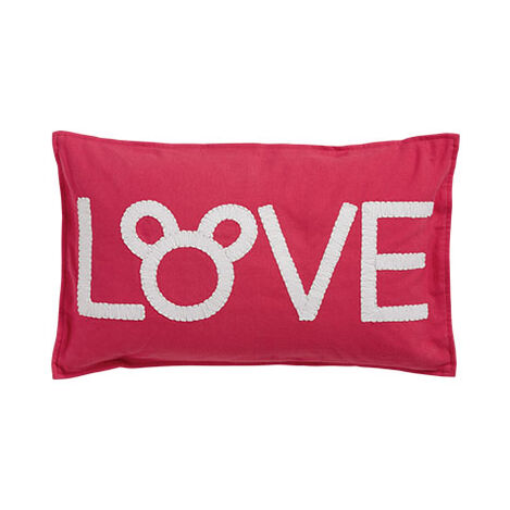 Mickey Mouse Love Pillow, Minnie Pink ,  , large