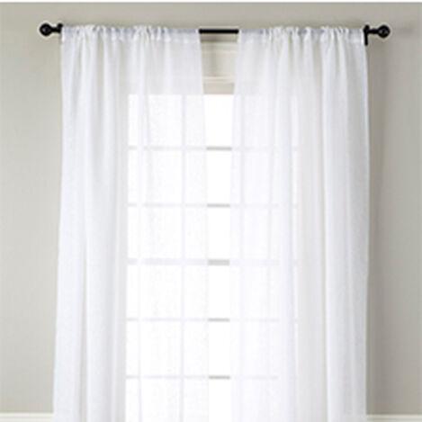 White Linen Sheer Rod-Pocket Panel ,  , hover_image