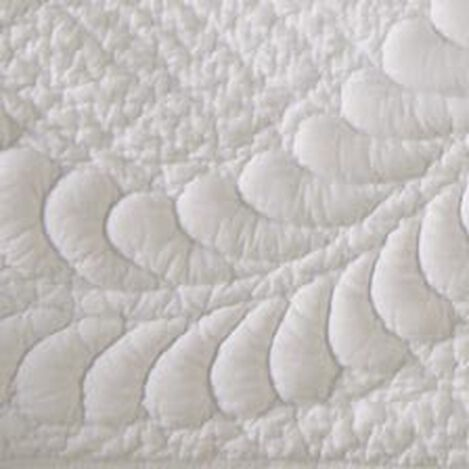 White Trapunto Quilt and Shams ,  , hover_image