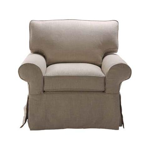 Bennett Slipcovered Chair ,  , large