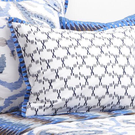 Housse décorative pour oreiller Priya avec collerette Ikat ,  , large