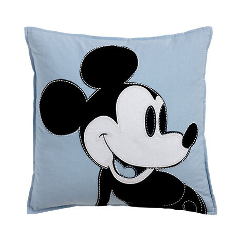 Color Block Mickey Pillow, Sky ,  , large