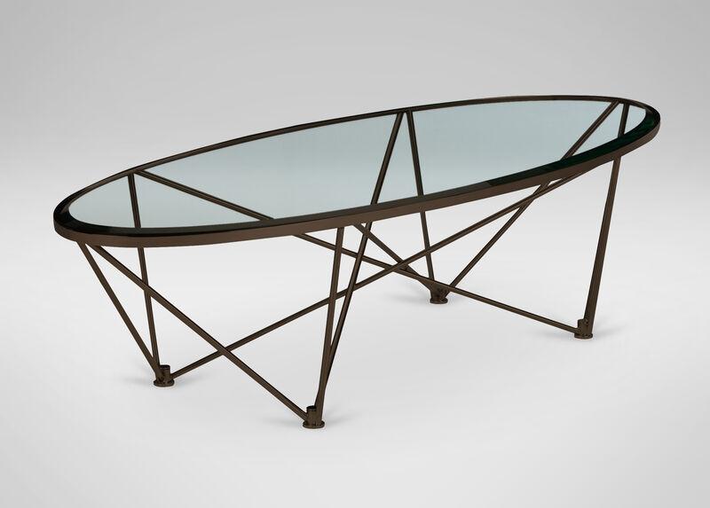 Kestral Oval Coffee Table, Vintage Steel ,  , large_gray