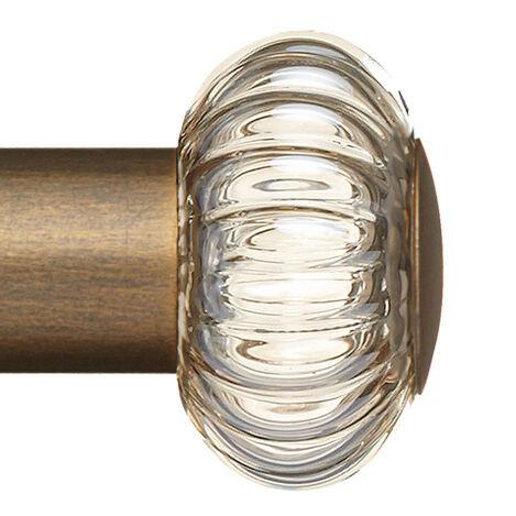 Elm Smoke Glass Hardware, Rose Gold ,  , large