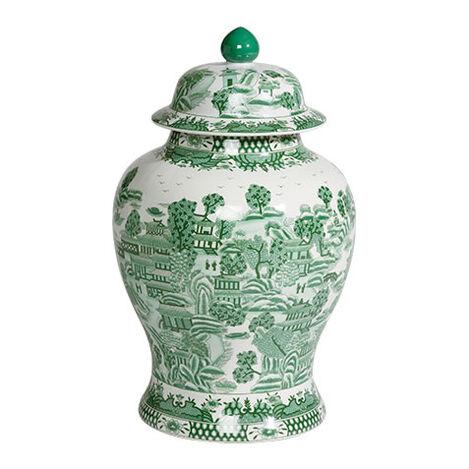 Large Green Ginger Jar ,  , large