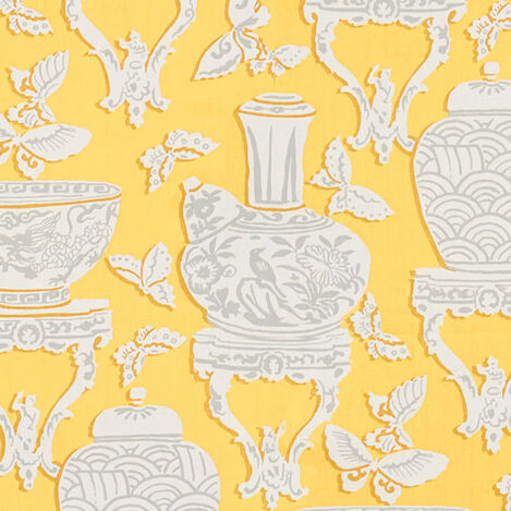 Ginger Jar Daffodil Fabric ,  , large