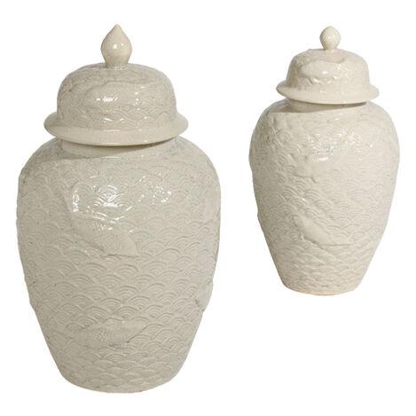 Koi Fish Temple Jars ,  , large