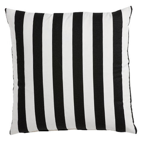 Black and White Bold Stripe Pillow ,  , large