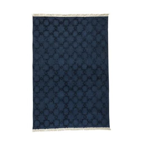 Lattice Soumak Rug, Navy ,  , large