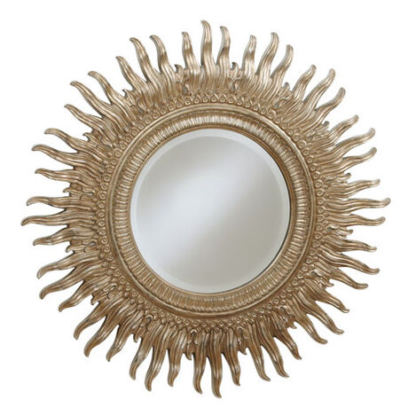 Miroir soleil en argent ,  , large