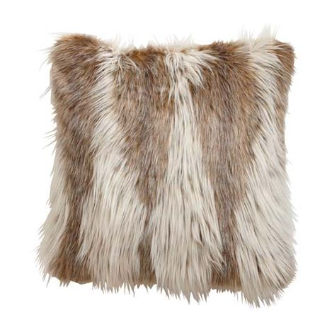 Lynx Faux Fur Pillow ,  , large