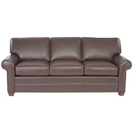 Bennett Roll-Arm Leather Sofa ,  , large