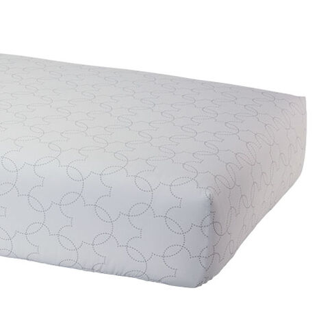 Mickey Mouse Dash Crib Sheet, Mouse Grey ,  , large