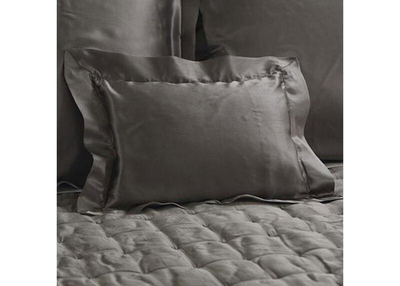 Damaris Gray Silk Boudoir Pillow ,  , large_gray