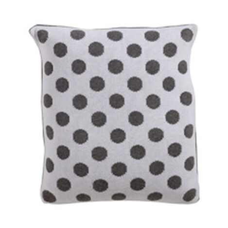 Dotty Knit Pillow, Mouse Grey ,  , hover_image
