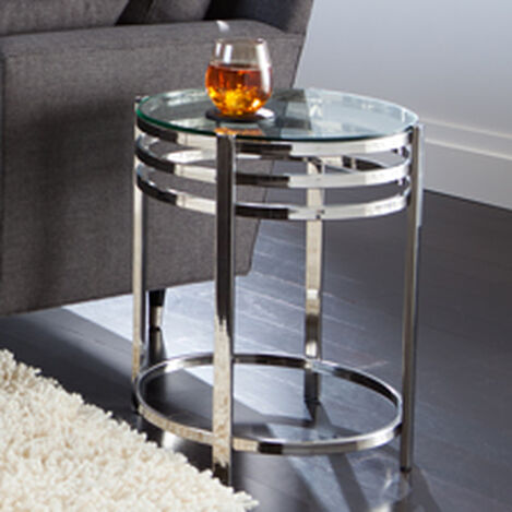 Nickel Side Table ,  , hover_image