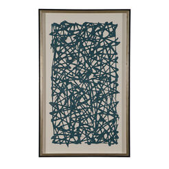 Turquoise Paper Art ,  , large