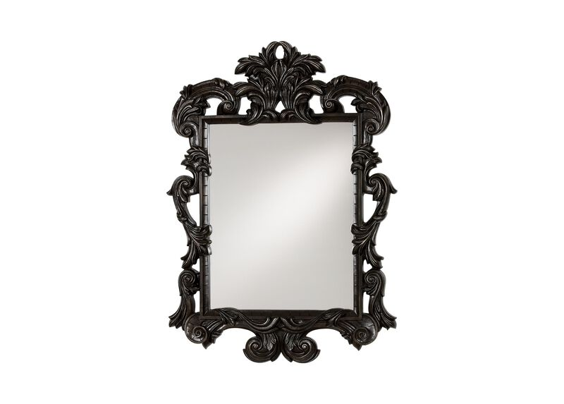 Black Ornate Mirror ,  , large_gray