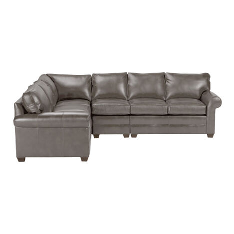 Bennett Four Piece Leather Sectional, Quick Ship ,  , large