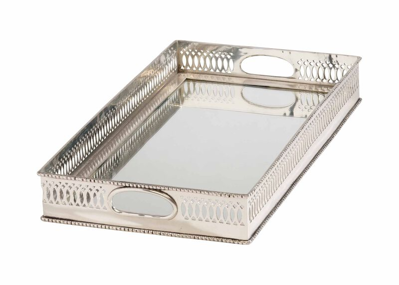 Traditional Mirrored Silver Tray ,  , large_gray