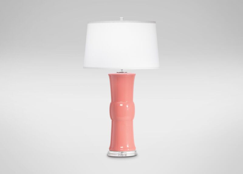 Caprice Table Lamp, Black, Tangerine, and Coral ,  , large_gray