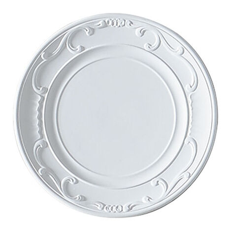 White Scrolled Wall Plate ,  , large