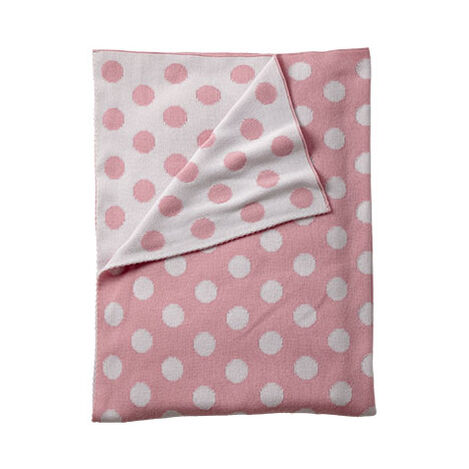 Dotty Stroller Blanket, Petal ,  , large