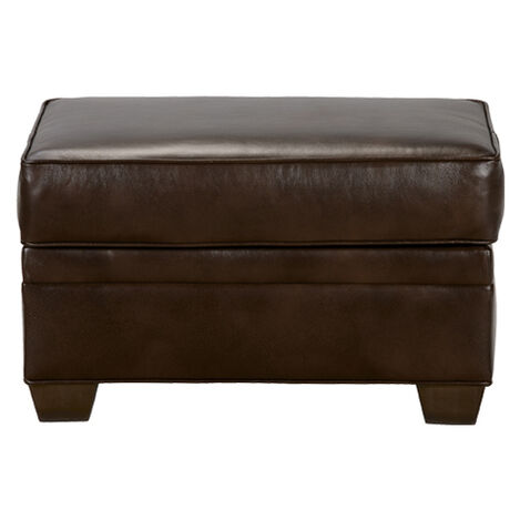 Bennett Leather Ottoman, Quick Ship ,  , large