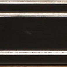 Piano / Silver Metallic Leaf (565): Black paint with silver leaf accents, high sheen.