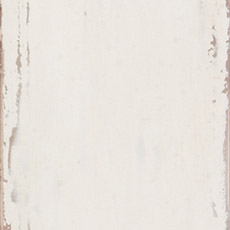 Percy (623): White paint, antiqued, exposed edges with areas of light brown and gray rub through.