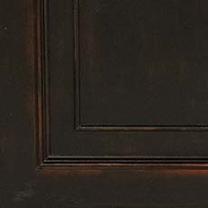 Timeworn Black (761): Black paint, antiqued, heavily worn edges.
