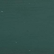 Hand-painted Forest Green (H51): Medium-dark green paint with brush marks, highly worn edges with white and brown rub through.