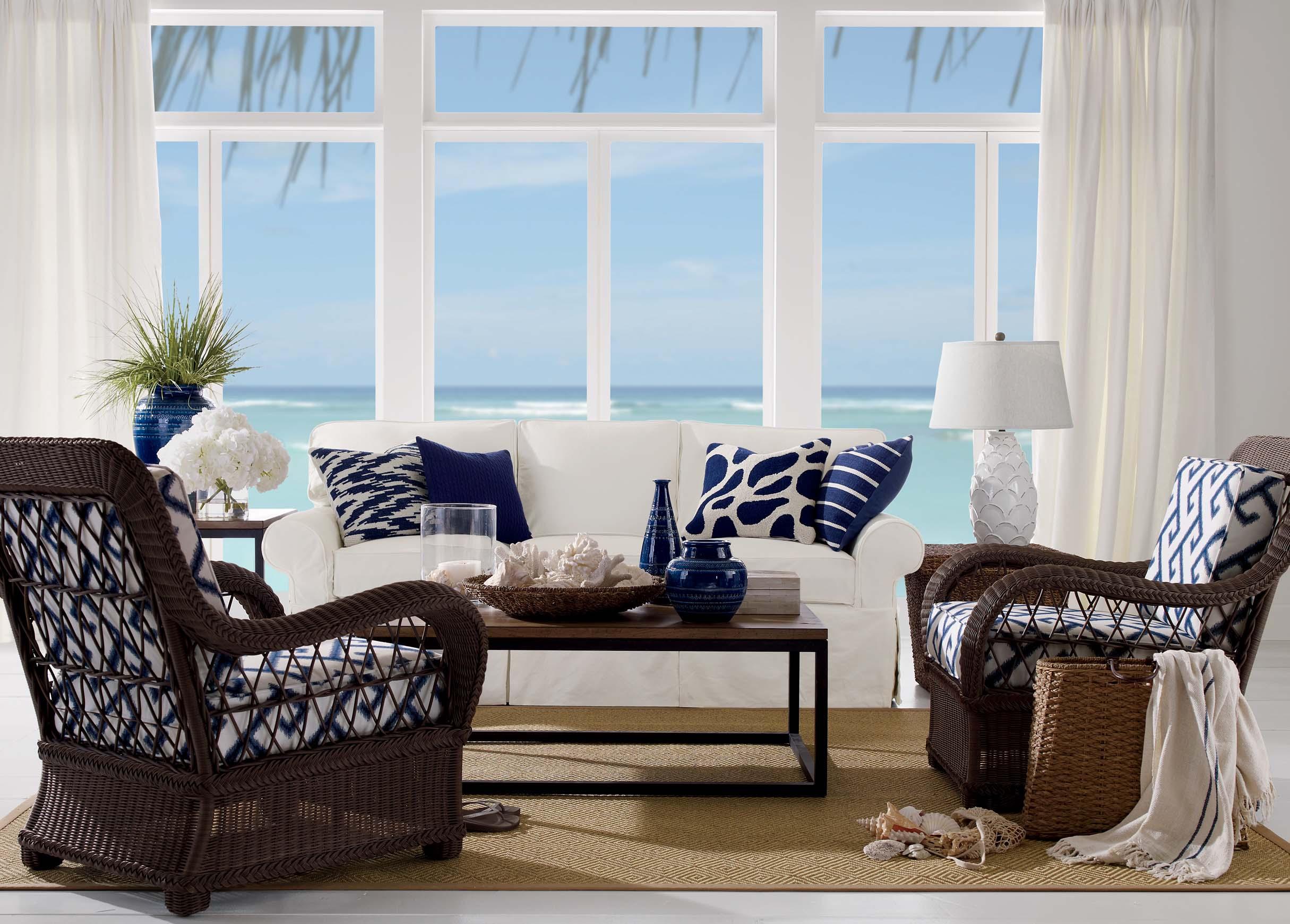 Coastal living room ethan allen for Ethan allen living room designs