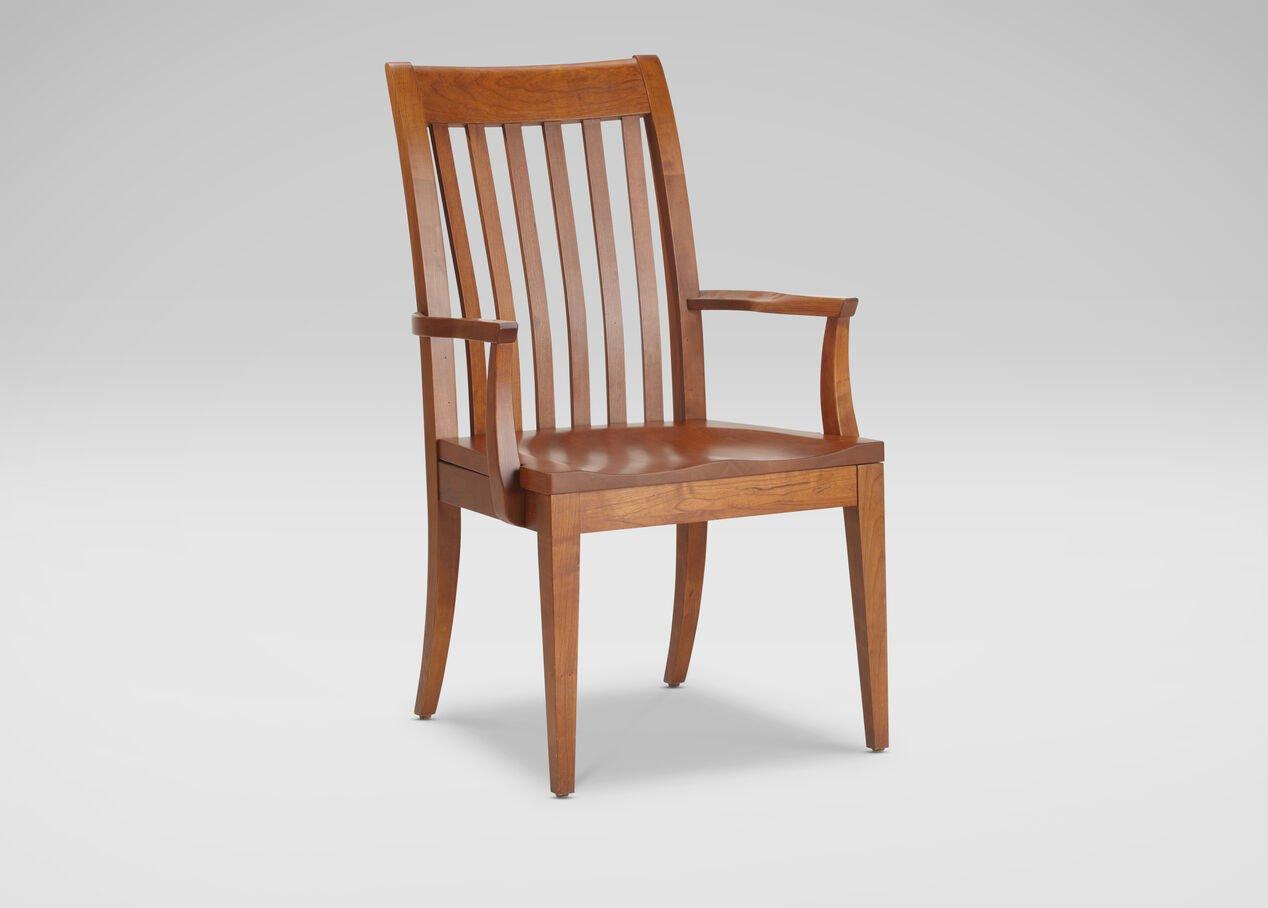 Teagan Wood Seat Armchair Arm Amp Host Chairs