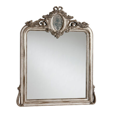Aged Silver Provincial Mirror ,  , large