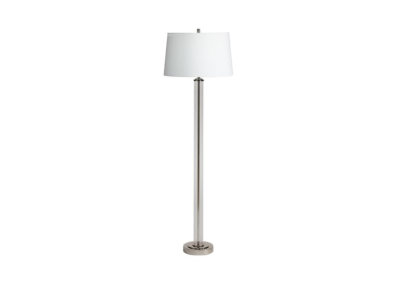 Glass cylinder floor lamp floor lamps ethan allen for Paper cylinder floor lamp
