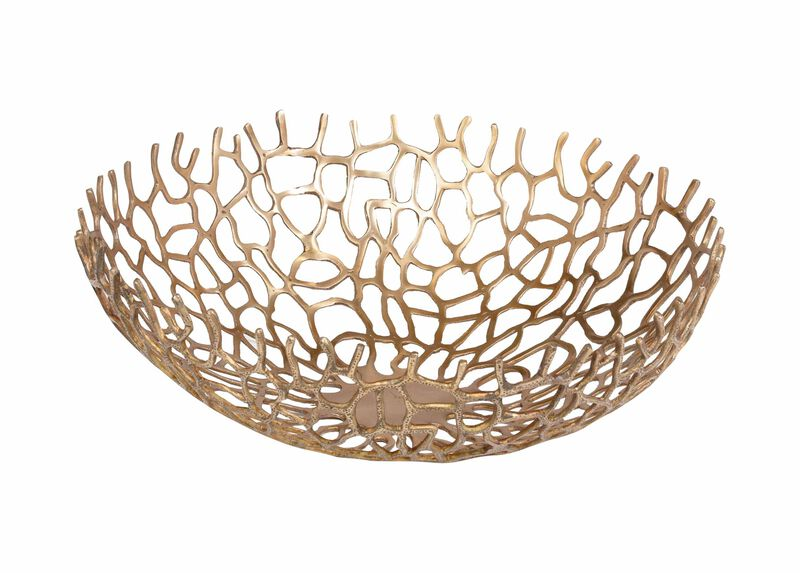 Brass Round Coral Bowl ,  , large_gray