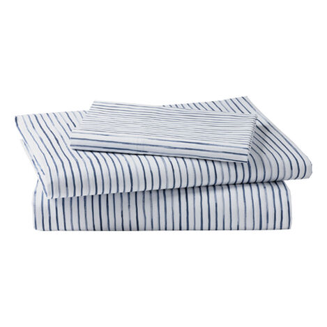 Paint Stripe Twin Sheet Set, Midnight Product Tile Image 0352073  MDN