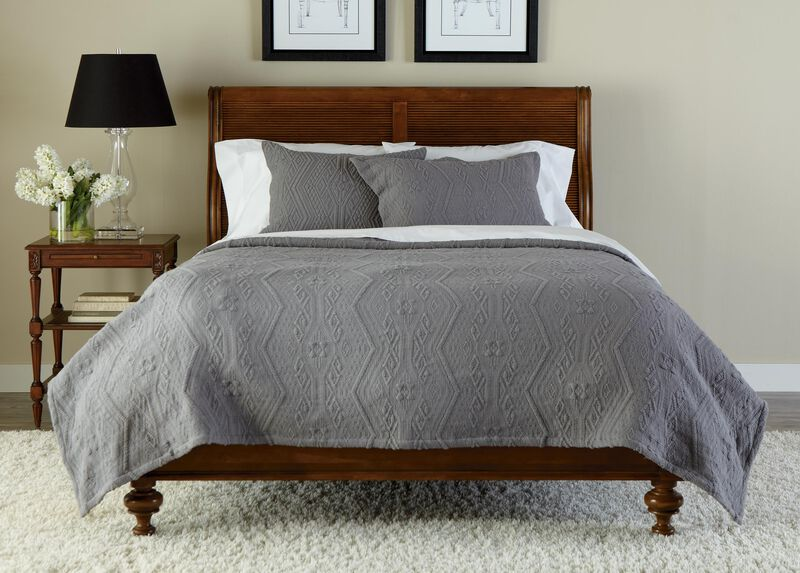 Declan Textured Coverlet and Shams ,  , large_gray