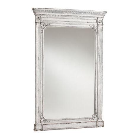 Antique White Madeleine Trumeau Floor Mirror Product Tile Image 074502C